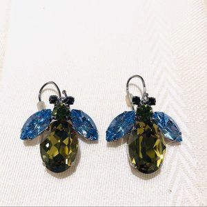 NWOT Coach Faceted Crystal Bee Earrings